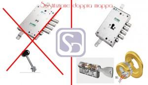 cambio serratura a doppia mappa milano